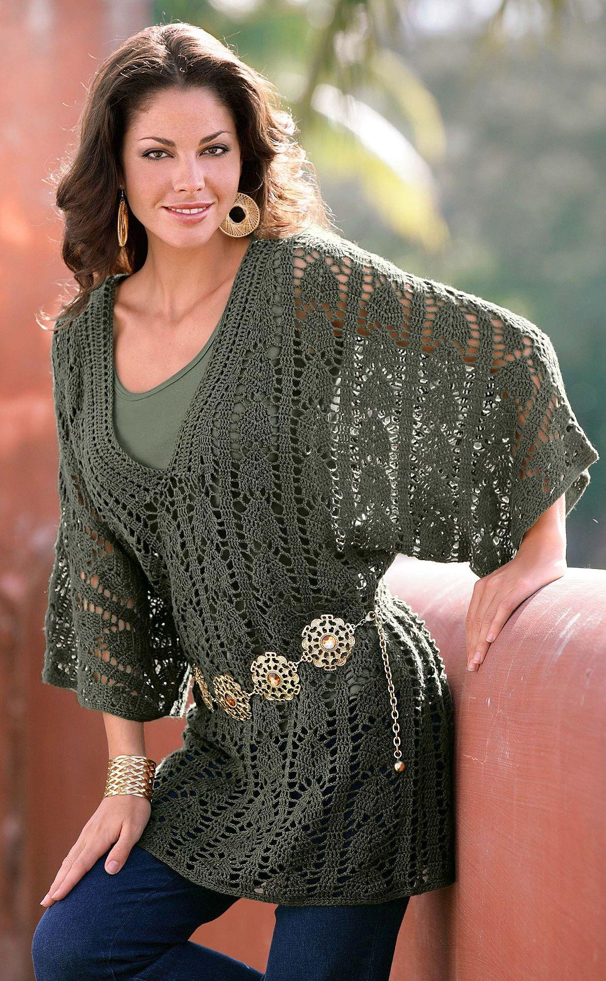 Модели вязание туник крючком