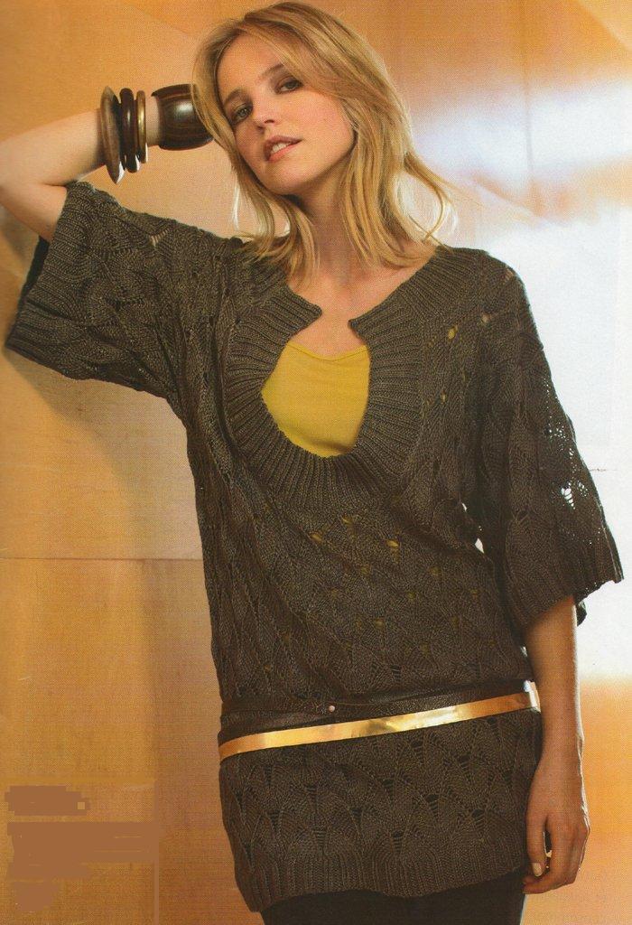 Необычное вязание для женщин спицами 50